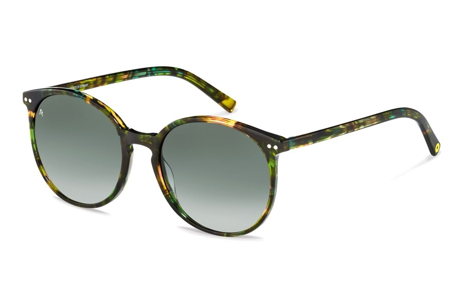 Rocco by Rodenstock RR333 Sunglasses in B Green Structured w/Pilot Green Gradient