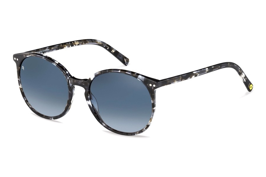 Rocco by Rodenstock RR333 Sunglasses in C Black Structured w/Blue Gradient