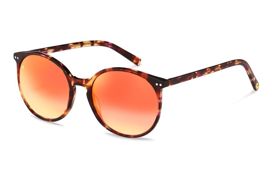 Rocco by Rodenstock RR333 Sunglasses in D Red Havana w/Red Gradient Mirrored