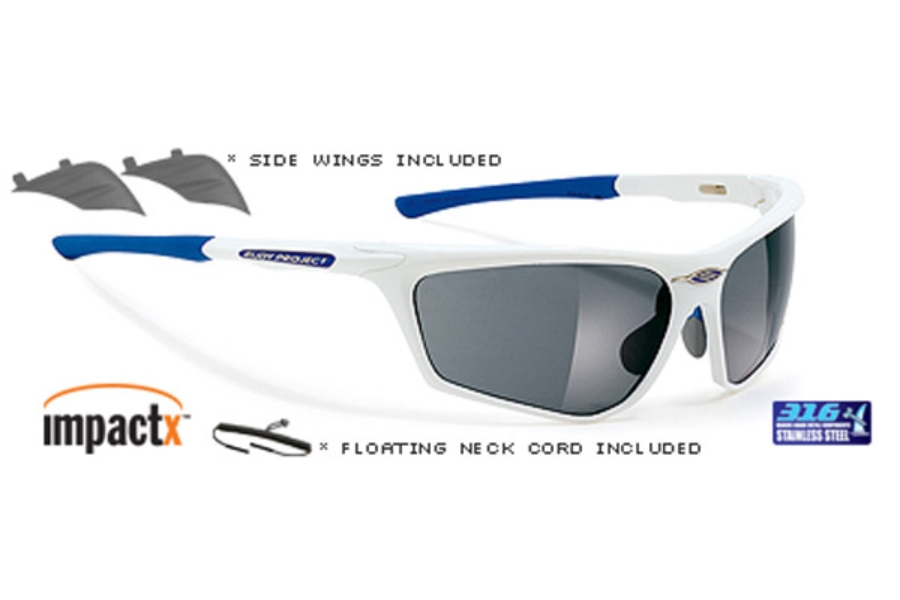0325eb2f89 Rudy Project Zyon Sunglasses in SN228624A Zyon Sailing White Pearl Frame  With Impactx Photopolarized Grey Lenses ...