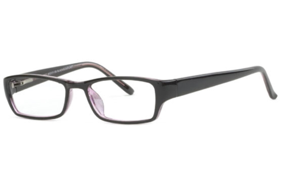 Clariti Smart S2677 Eyeglasses in Black/Eggplant