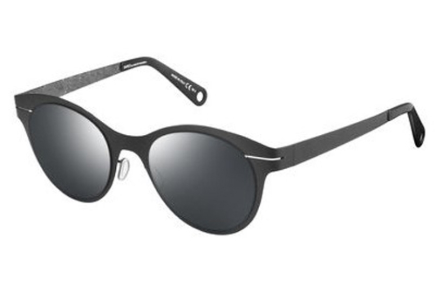 Safilo by Marcel Wanders Saw 001/S Sunglasses in 0AEQ Semi Matte Black Dark Rust (T4 black mirror lens)