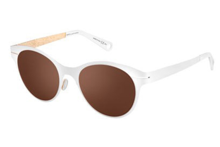 Safilo by Marcel Wanders Saw 001/S Sunglasses in 0THF Matte White Gold (UT dark brown lens)