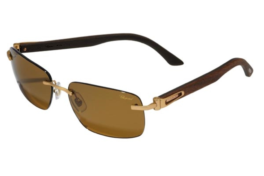 c0e292cbae3 ... Chopard SCH A56 Sunglasses in 648P Matte Rose Gold-Wood Brown ...