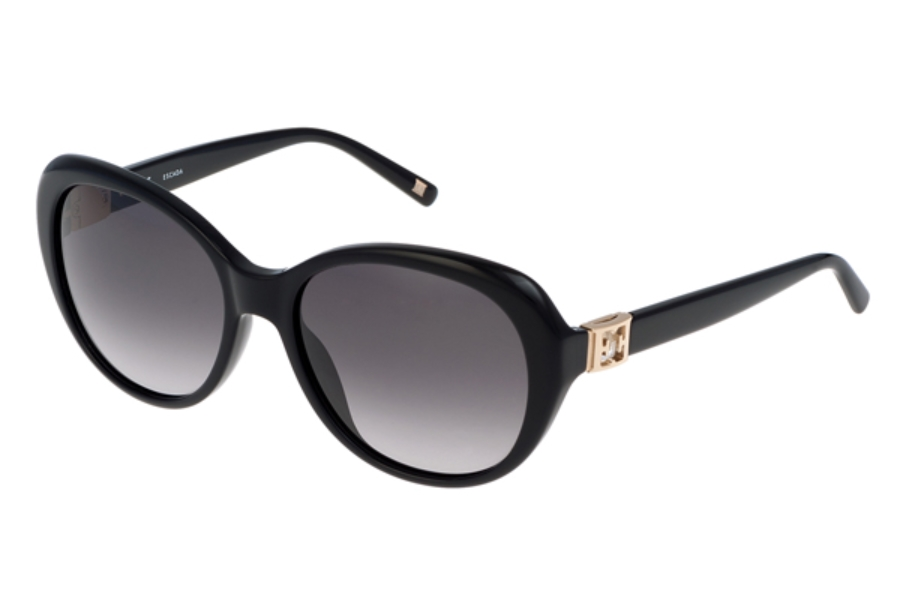 Escada SES 344S Sunglasses in 700Y Black Stones/Gradient Grey