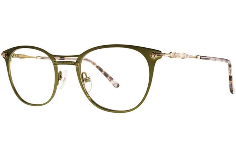 Si by Helium SI 1018 Eyeglasses in Greenn/Gold