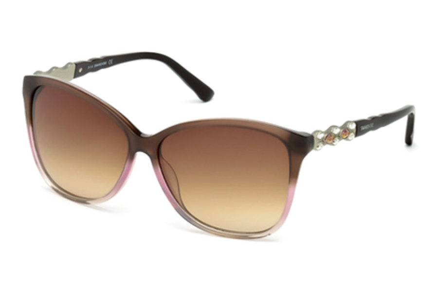 Swarovski SK0085 Elizabeth Sunglasses in 47Z Light Brown/Other / Gradient