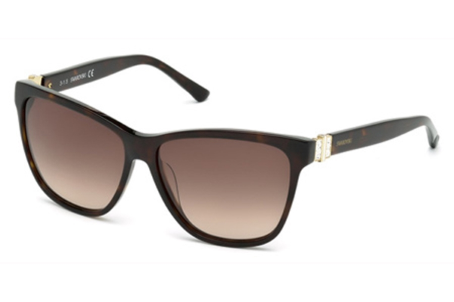 Swarovski SK0121 Fundamental Sunglasses in 52F - Dark Havana / Gradient Brown