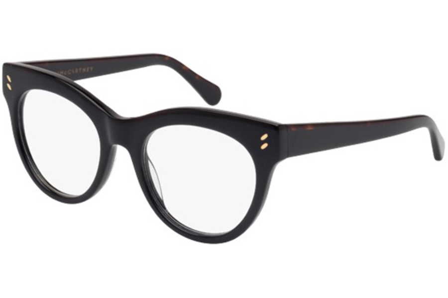 Stella McCartney SC0024O Eyeglasses in 001 Black with Black temples