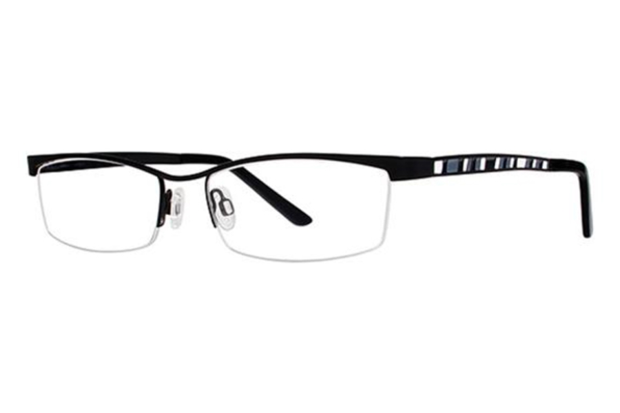 Genevieve Boutique Saga Eyeglasses in Matte Black