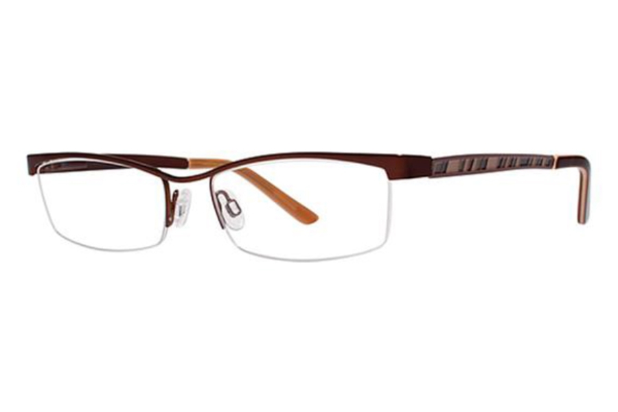 Genevieve Boutique Saga Eyeglasses in Matte Brown