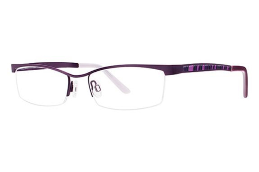 Genevieve Boutique Saga Eyeglasses in Matte Plum
