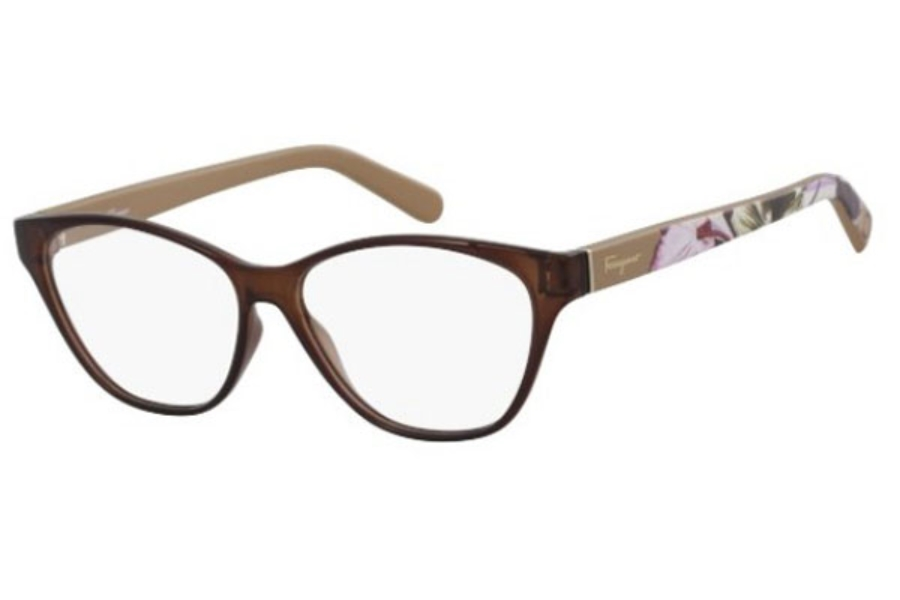 Salvatore Ferragamo SF2836 Eyeglasses in 208 Dark Brown