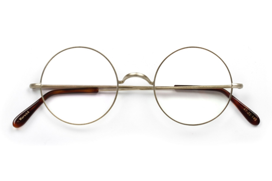 718ae18afdfa5 ... Savile Row Warwick Eyeglasses in Matt Gold ...