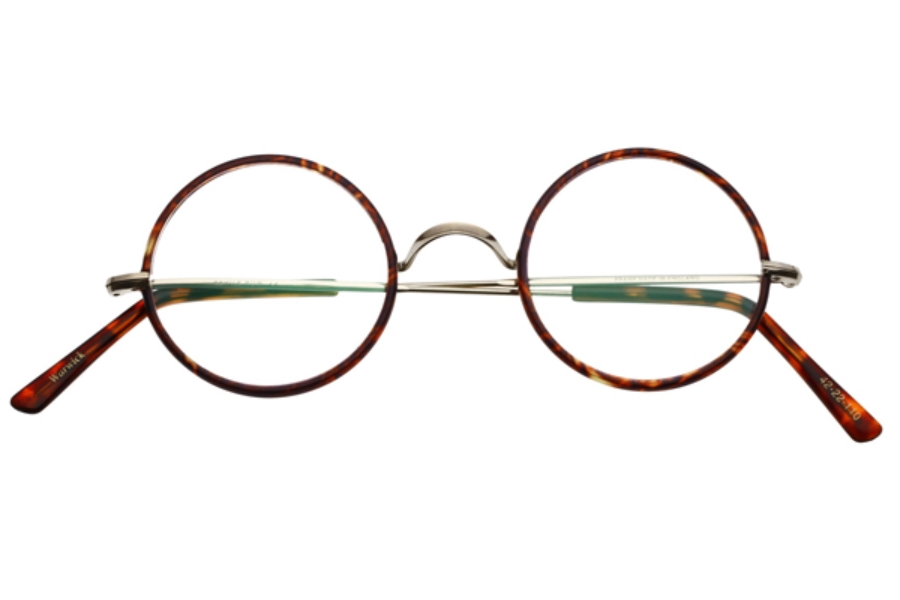 1b6028f66ec14 ... Savile Row Warwick Eyeglasses in Shiny Gold Chestnut Rims ...