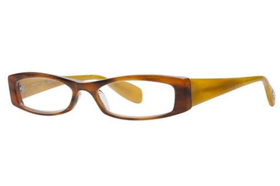 Scojo New York Readers Sidney Place Eyeglasses in 1020 Fruitwood/Yellow