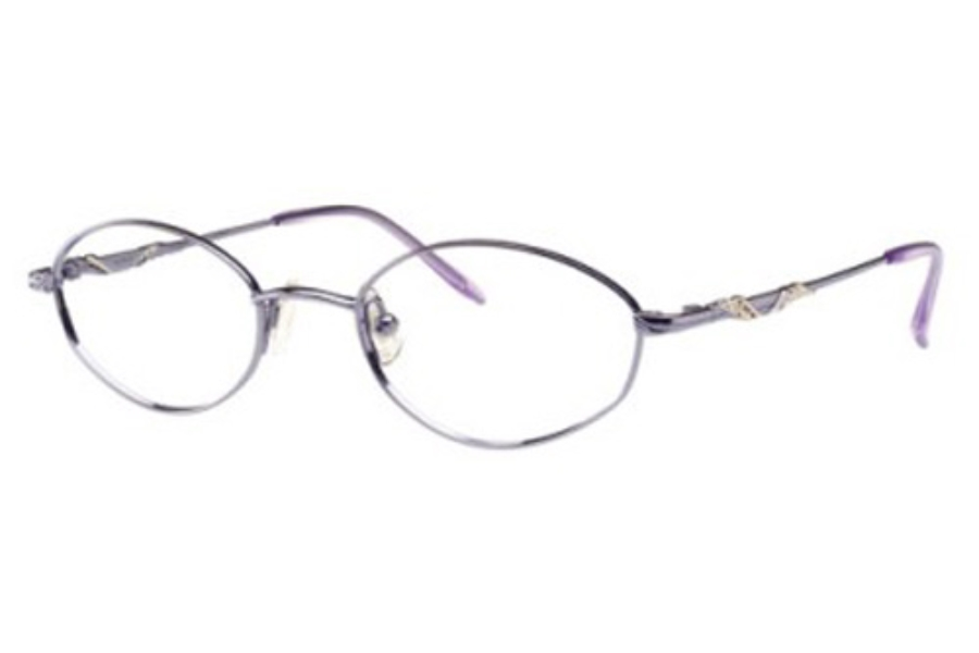 Seiko T0123 Eyeglasses in 381 Vivid Purple/Sky