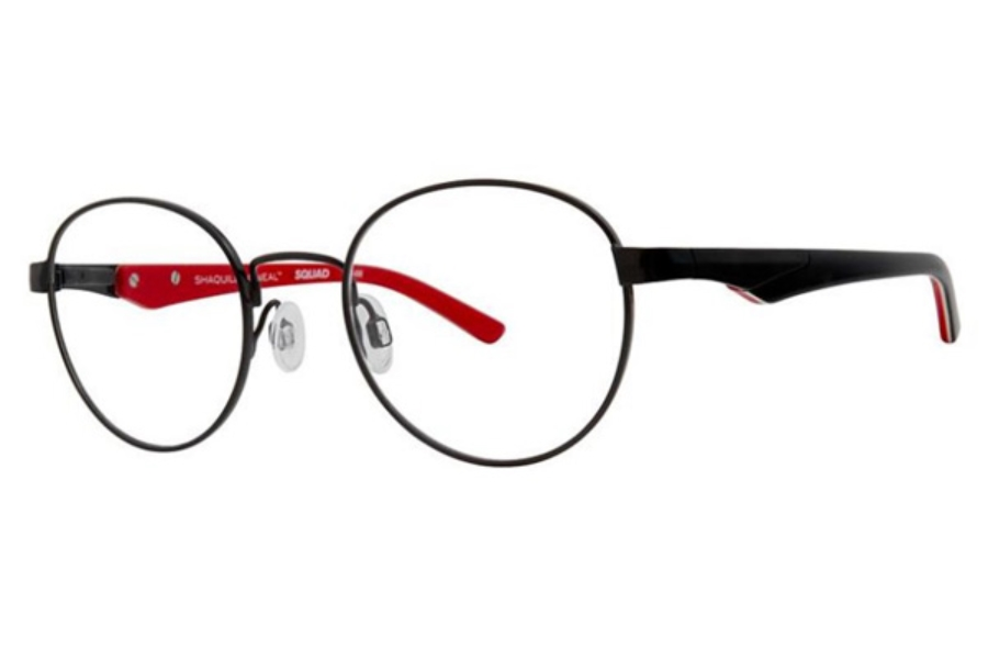 Shaquille O'Neal QD 514M Eyeglasses in 239 Black Red