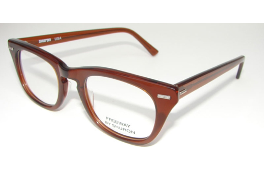 cc77fb0db9 Shuron Freeway Eyeglasses in Brown Smoke ...