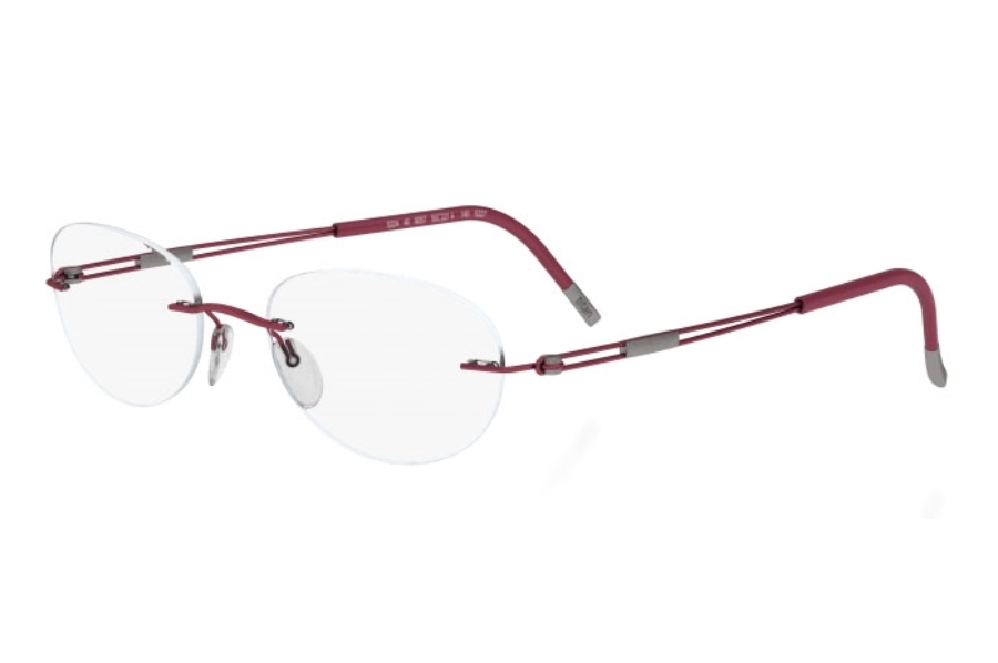 Silhouette 4304 (5227 Chassis) Eyeglasses in 6059 Red Matte