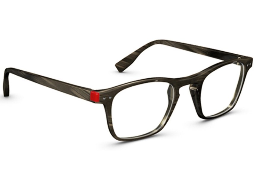 Simple Pop Life Eyeglasses in 003 Ribed Chocolat