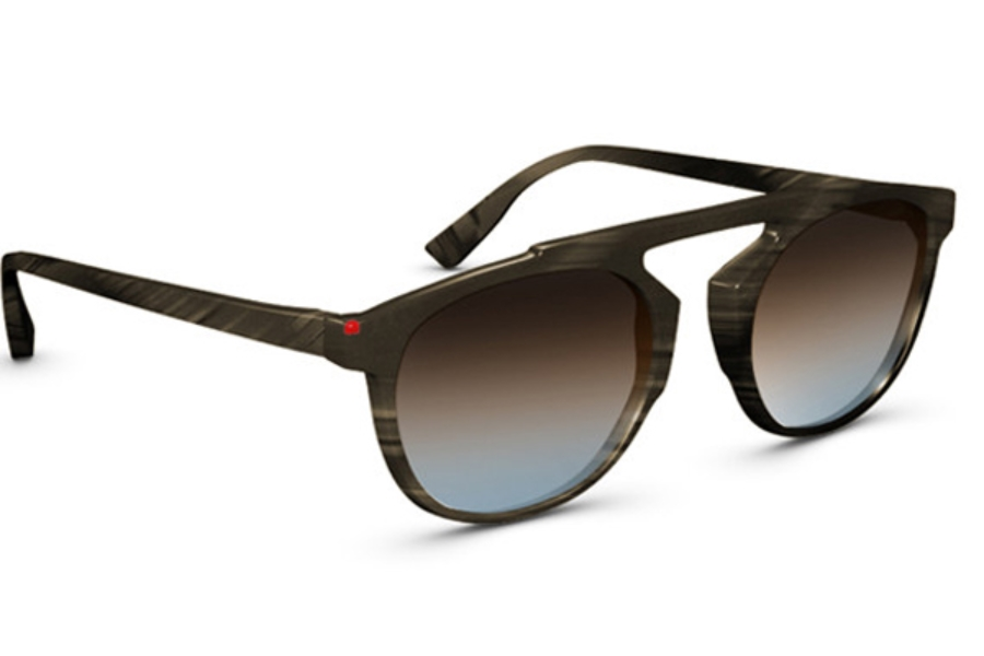 Simple Travis Sunglasses in 003I Chocolate Brown Blue Gradient