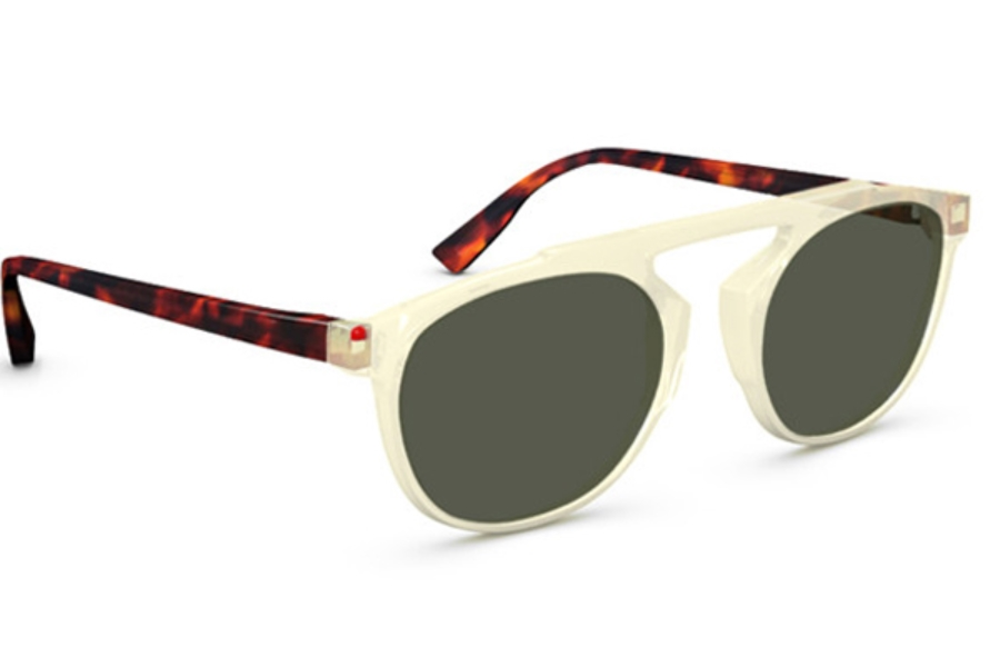 Simple Travis Sunglasses in 025L Yellow Crystal Dark Tortoise G15 Polarized