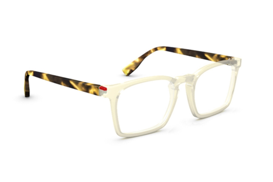 Simple Wynwood Eyeglasses in Cristal Jaune Écaille