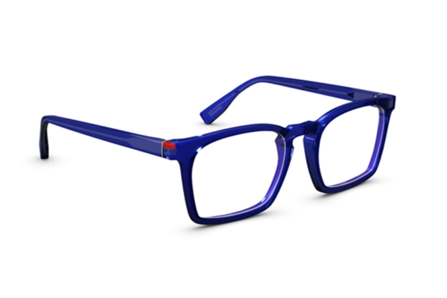Simple Wynwood Eyeglasses in Indigo Translucide