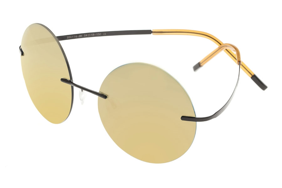 Simplify Christian Sunglasses in Black/Gold