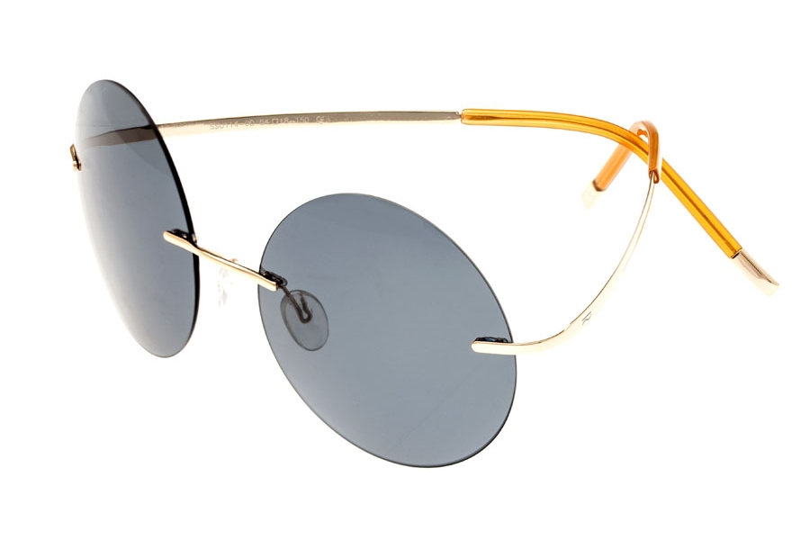 Simplify Christian Sunglasses in Gold/Blue