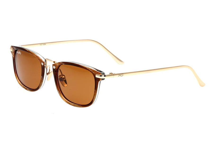 Simplify Foster Sunglasses in Brown/Brown