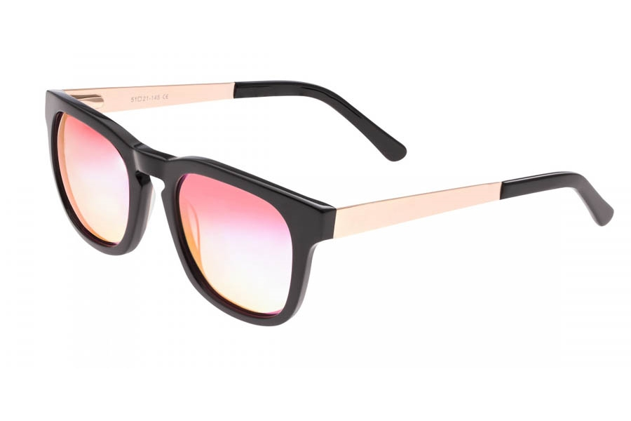 Sixty One Twinbow Sunglasses in Black/Pink