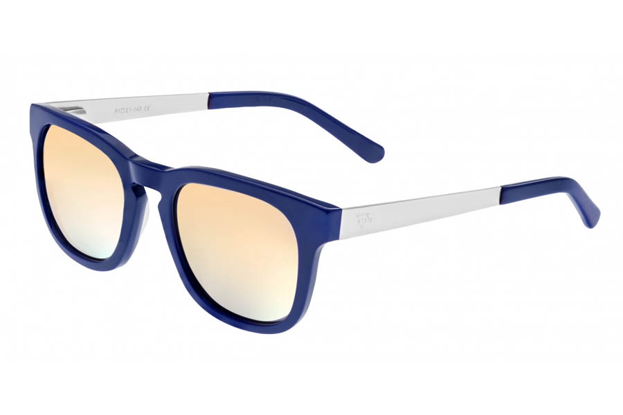 Sixty One Twinbow Sunglasses in Periwinkle/Gold-Green
