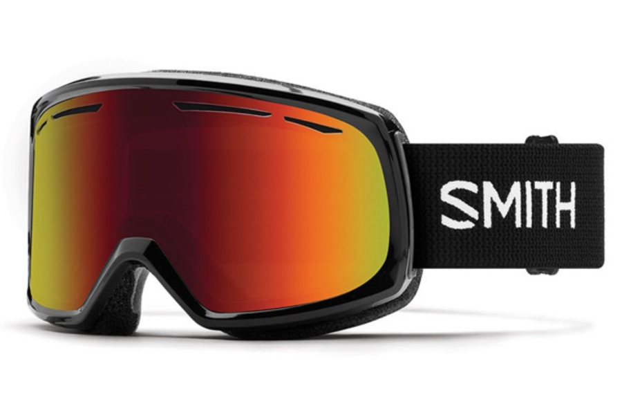 Smith Optics Drift Goggles in Black / Red Sol-X Mirror