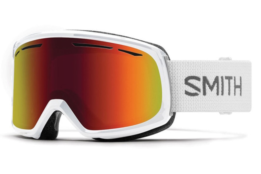 Smith Optics Drift Goggles in White / Red Sol-X Mirror