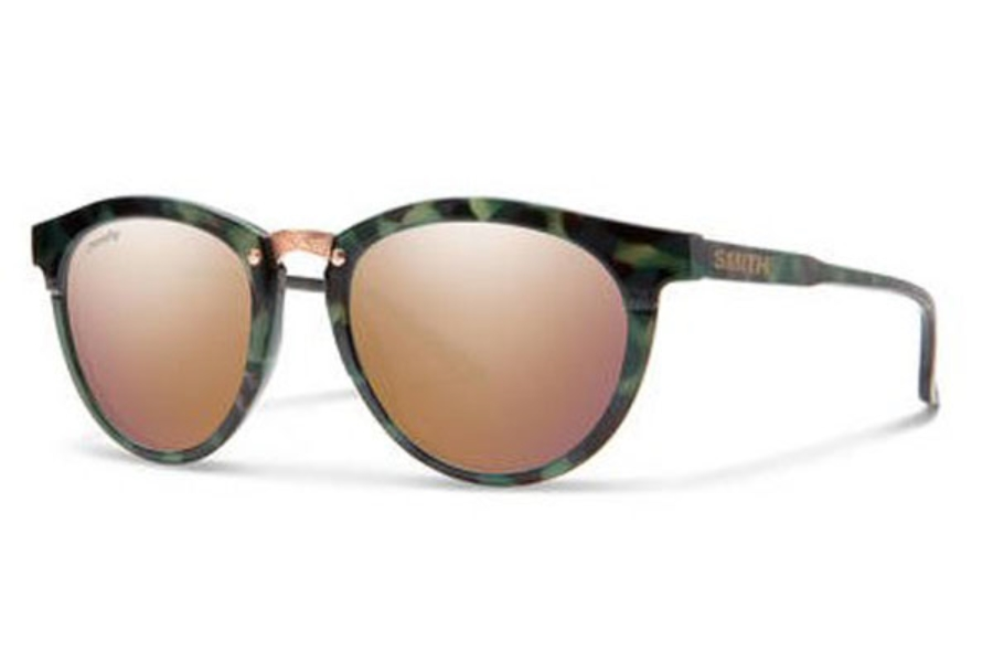 Smith Optics Questa Sunglasses in 0PHW Havana Green (9V gold multilayer lens) (49 Eye Size Available)