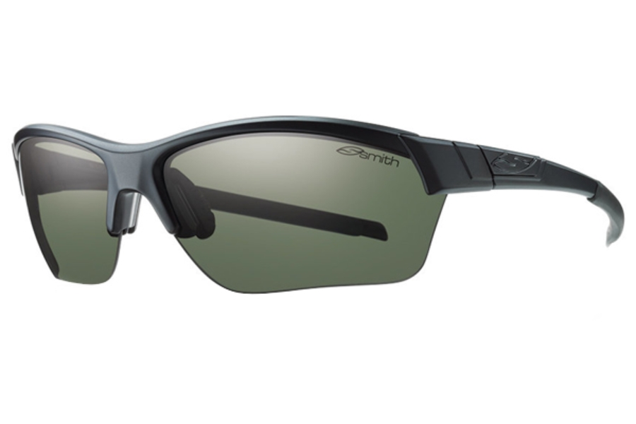 Smith Optics Approach Max Sunglasses in 06XJ Matte Black / Polarized Gray Green
