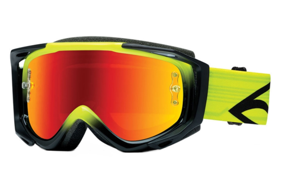 Smith Optics Fuel V.2 Sweat-X M Goggles in Acid / Red Mirror