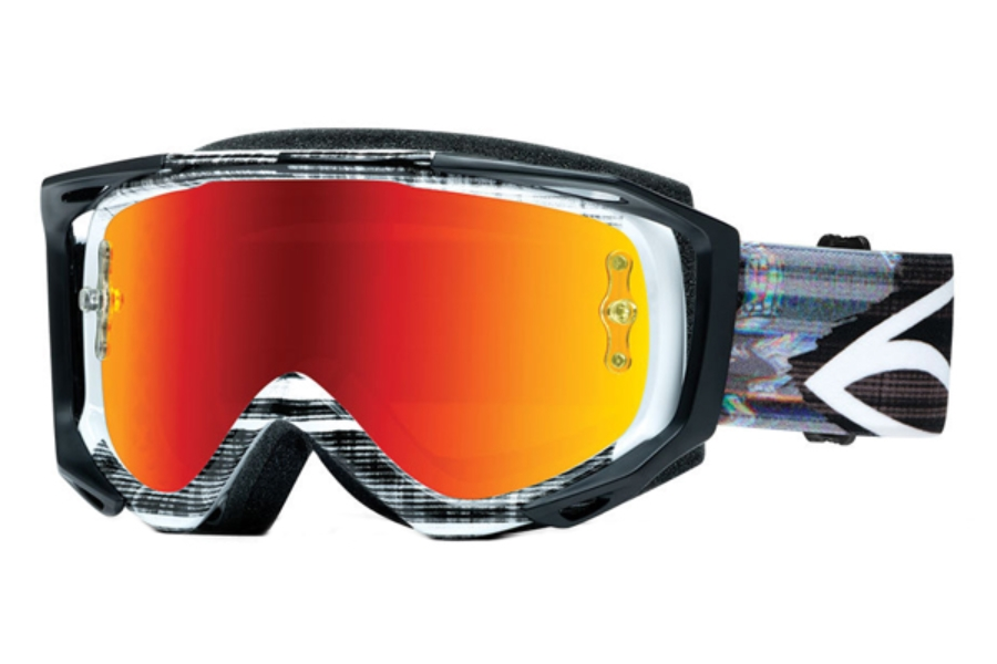 Smith Optics Fuel V.2 Sweat-X M Goggles in Vertical Hold / Red Mirror