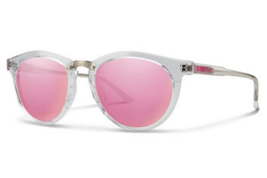 Smith Optics Questa Sunglasses in 0900 Crystal (VQ multilayer pink lens)