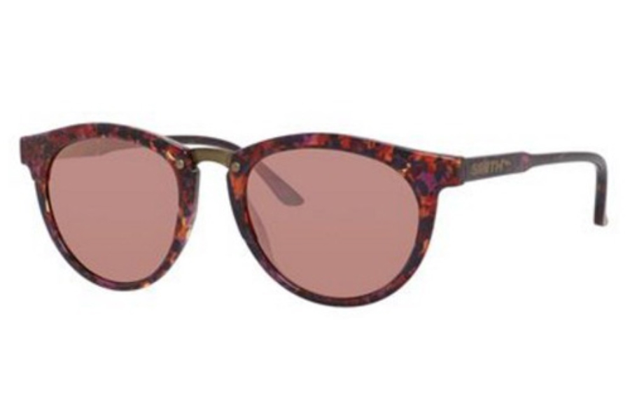 Smith Optics Questa Sunglasses in 0WJ9 Violet Havana (FN rose gold mirror lens)