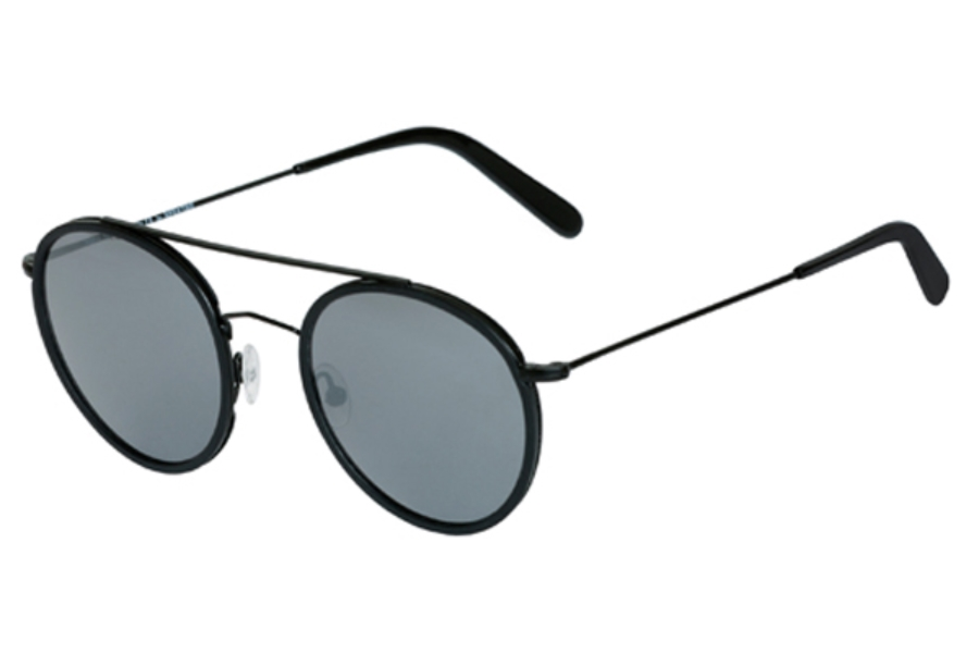 Spektre Vanni Sunglasses in VA01B Black / Silver Mirror