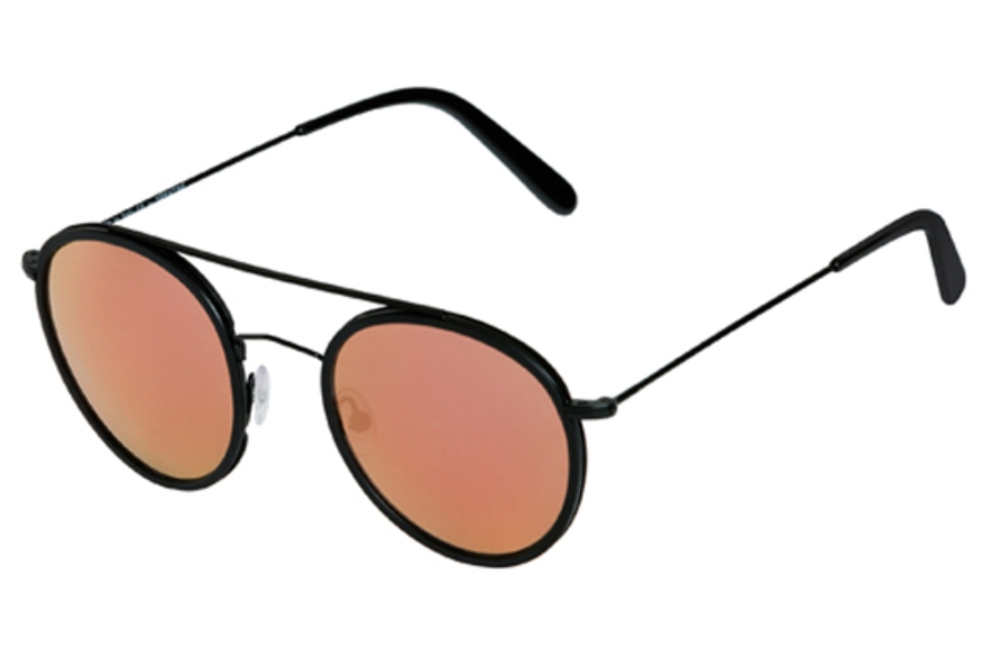 Spektre Vanni Sunglasses in VA01C Black / Rose Gold Mirror
