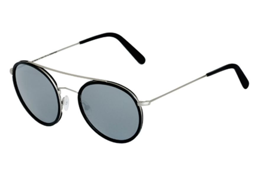 Spektre Vanni Sunglasses in VA03A Silver Black / Silver Mirror