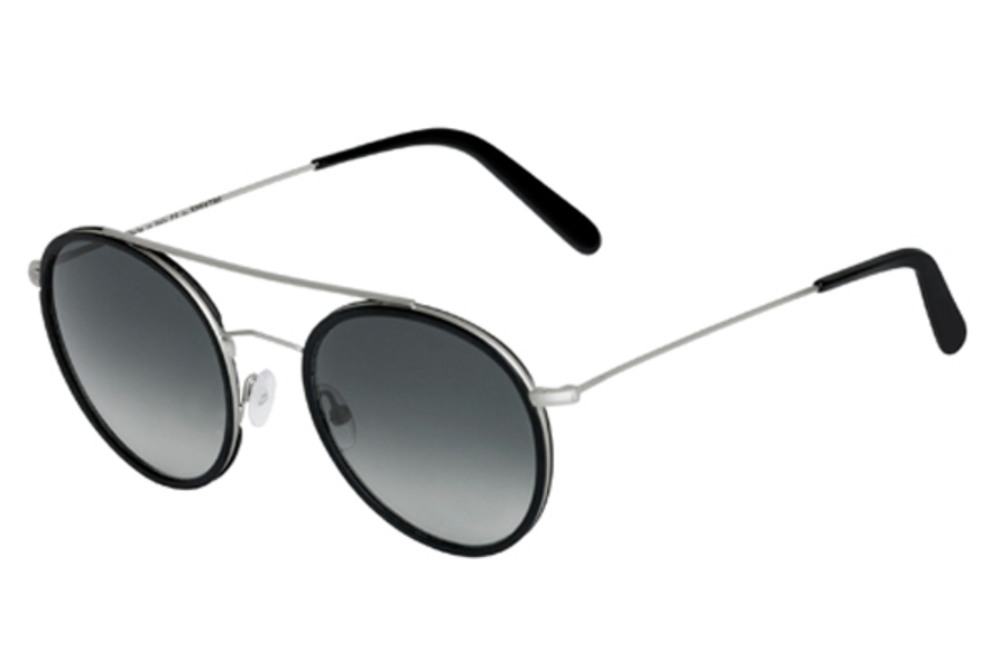 Spektre Vanni Sunglasses in VA03B Silver Black / Gradient Smoke