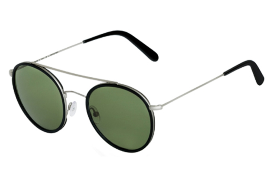Spektre Vanni Sunglasses in VA03C Silver Black / Deep Green