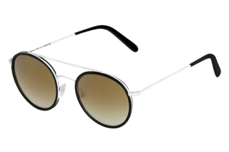 Spektre Vanni Sunglasses in VA04A White Black / Gradient Bronze