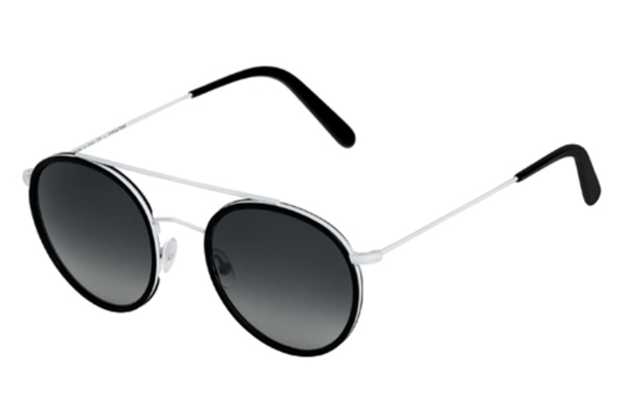 Spektre Vanni Sunglasses in VA04B White / Black / Gradient Smoke