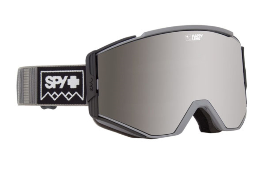Spy ACE - CONTINUED Goggles in Deep Winter Gray w/ Happy Gray Green with Silver Spectra + Happy Yellow with Lucid Green